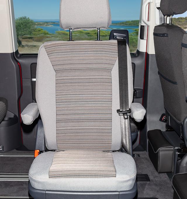 Polsterbezug für VW T6.1 California Campingstuhl im Design Mixed Dots