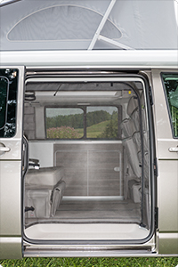 FLYOUT VW T5 California, sliding door opening
