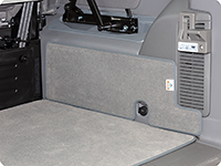 "Protection mat for the right side of the boot VW T6/T5 California Ocean, Coast, Comfortline, design ""Moonrock Grey"""
