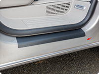 Protection films, transparent, for door sill trim VW T6/T5