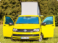 ISOLITE® Inside VW T6 without sensors in the inner- rear mirror