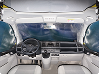 ISOLITE® Inside cabin windows, 3 pieces, all VW T6 without sensors in the inner-rear mirror