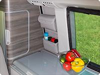 "UTILITY fürs Schrankfenster VW T6/T5 California Ocean oder Coast Design: ""Leder Moonrock""."