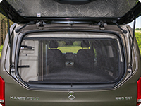 FLYOUT tailgate window Mercedes-Benz V-Class Marco Polo & HORIZON & ACTIVITY (2014 ➞) closed.