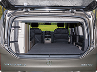 FLYOUT tailgate window Mercedes-Benz V-Class Marco Polo & HORIZON & ACTIVITY (2014 ➞) rolled to the side.