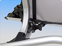 Lower fixation for VW T6.1/T6 tailgate bicycle holder art. no. 7E0 071 104.
