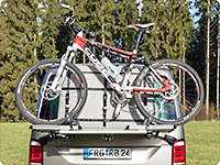 FLEXBAG Cargo for VW T6/T5 tailgate bicycle holder VW art. no. 7E0 071 104.