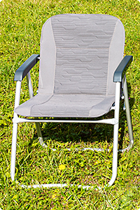Padded covers for serial camping chairs VW California