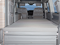 iXTEND folding bed for VW T6.1/T6 California Ocean, Coast and VW T5 Comfortline