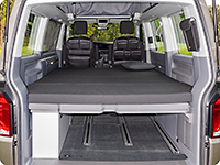 iXTEND folding bed for VW T6.1/T6/T5 California Beach and Multivan (UK=Caravelle)