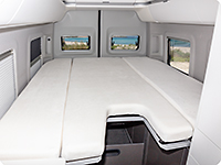 iXTEND fitted sheets are designed to enable all functions (foldability) of the optional loft bed in the VW Grand California 600.