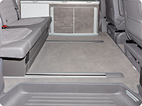 Tapis en velours California Ocean / Coast T6.1 VW avec 2 rails de guidage au sol, « Palladium »