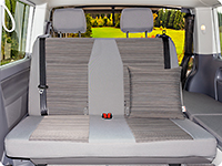 "Second Skin for 2-seater bench VW T6.1 California Coast / California Beach in the design ""Mixed Dots/Palladium"""