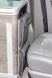 "UTILITY for the side of the kitchen VW T6.1 California Ocean / Coast, design ""Leather Palladium"""