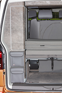 "UTILITY for the rear wardrobe, 2 bags, VW T6.1 California Ocean / Coast, design VW T6.1 ""Leather Palladium"""