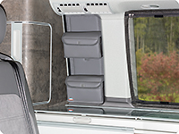 "UTILITY for the small kitchen window VW T6.1 California Ocean / Coast, design ""Leather Palladium"""