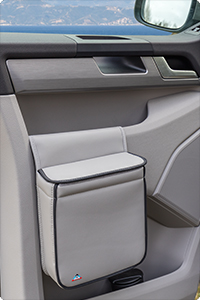The elegant MULTIBOX VW T6 can be attached to all VW T6 cabin doors.