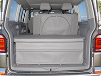 Der FLEXBAG Heck VW T6/T5 California Beach mit 2er-Bank