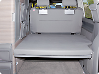"Protecive cover for the rear pad  VW T6/T5 California Ocean, Coast, Comfortline, Trendline. Design ""Moonrock Grey"""