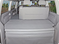 "Protective cover for rear pad VW T6/T5 Beach with 2-seater bench from 2011, design ""Moonrock Grey"""