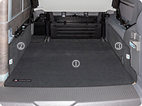 "Boot protection VW T6/T5 California Ocean, Coast, Comfortline, design ""Titanium Black"""