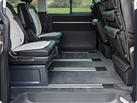 "Velour carpet VW T6/T5 Multivan passenger compartment,, design ""Titanium Black"""