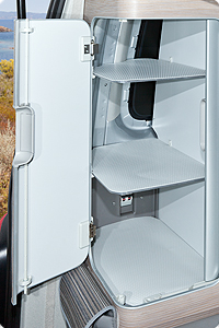 Anti-slip /protection inlays in the rear cupboard VW T6/T5 California Ocean, Coast, Comfortline