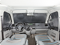 ISOLITE® Inside VW T5: entirely protected windscreen